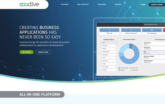 Coactive Apps website design