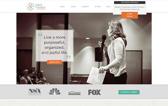 Connie Sokol website design