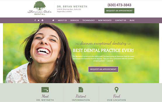 Naperville Dentistry website design