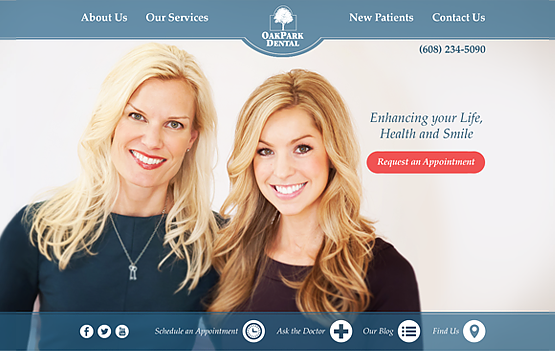 Oak Park Dental website design