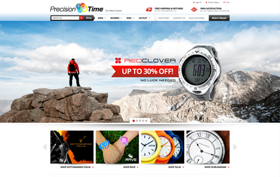 Precision Time website design