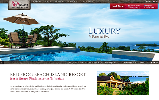 Red Frog Beach website design