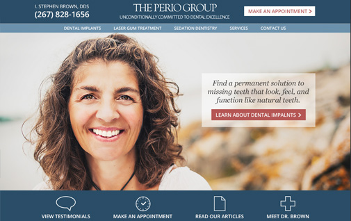 The Perio Group website design